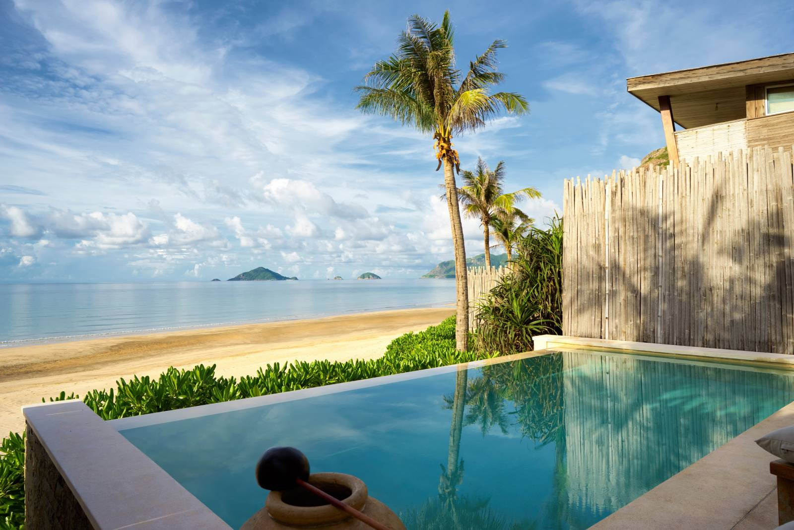 vietnam beachfront private pool villa